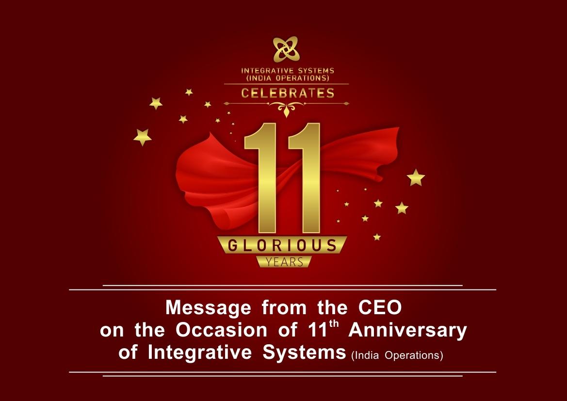 11th Anniversary CEOs Message